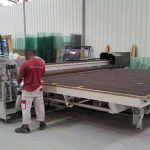 Distribuidor de mesa de corte de vidro manual